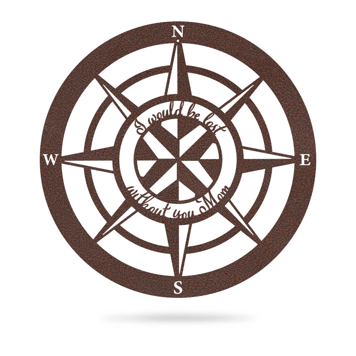 "Lost Without Mom Compass Wall Art - Type A 18"" / Penny Vein - RealSteel Center"