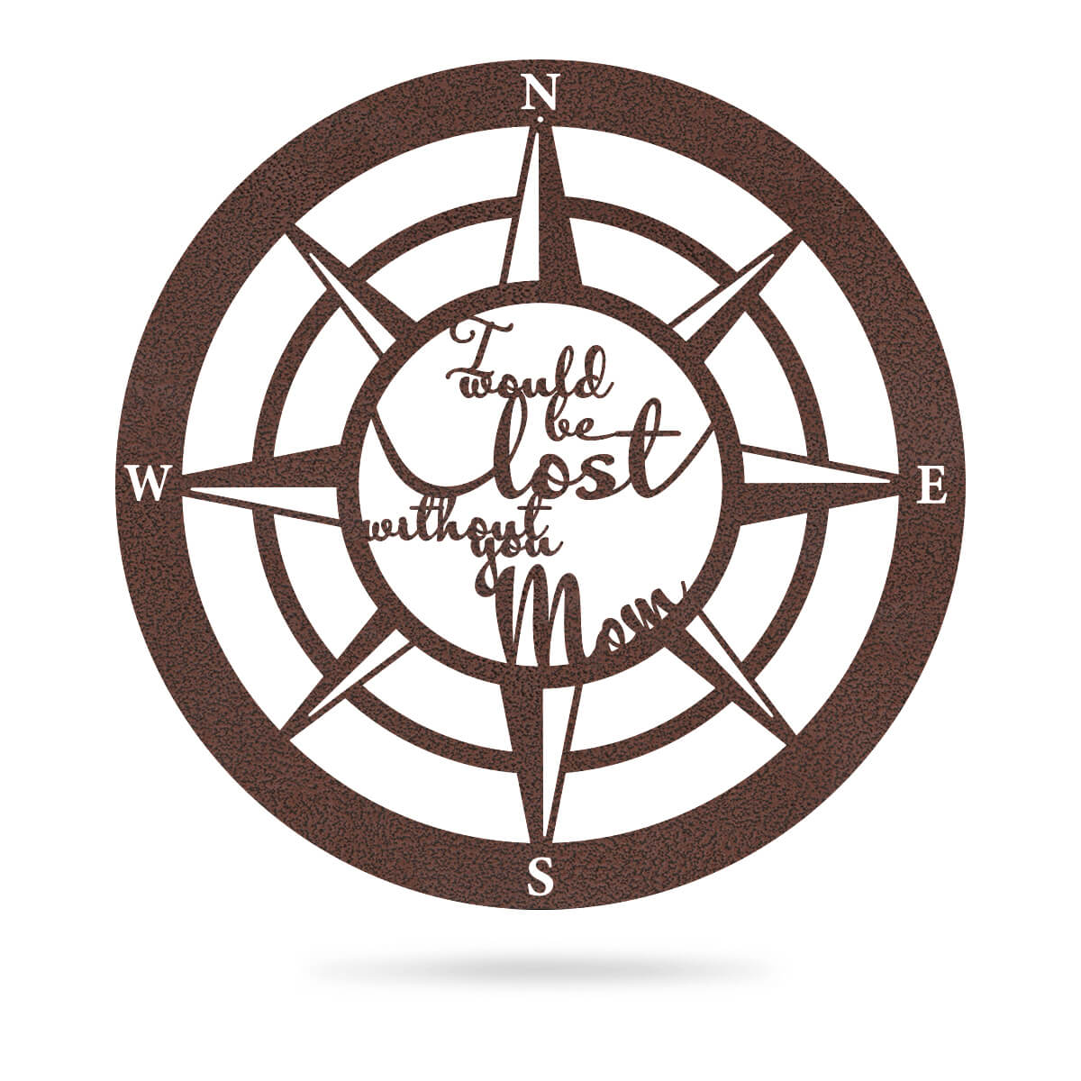 "Lost Without Mom Compass Wall Art - Type B 18"" / Penny Vein - RealSteel Center"