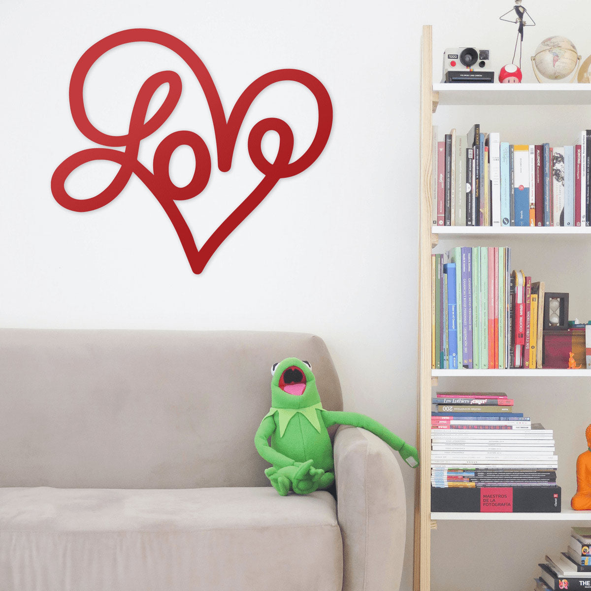 "Love Heart Wall Art 12"" x 14"" / Black - RealSteel Center"
