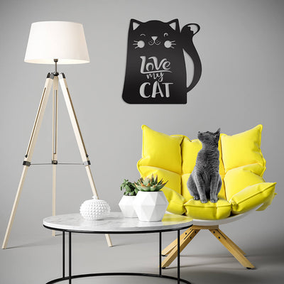 Love My Cat Wall Art  - RealSteel Center