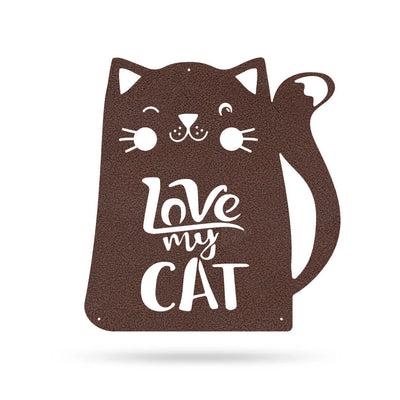 "Love My Cat Wall Art 18"" / Penny Vein - RealSteel Center"