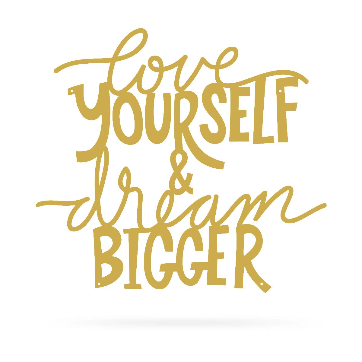 "Love Yourself & Dream Bigger Wall Art 18""x20"" / Gold - RealSteel Center"