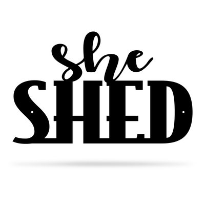 "She Shed Wall Art 7.5""x12"" / Black - RealSteel Center"