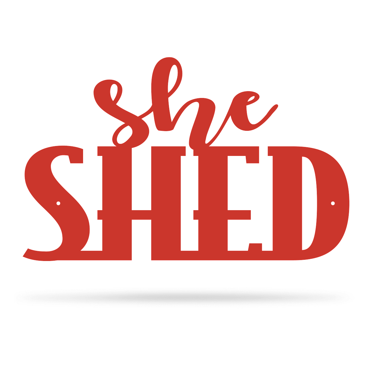 "She Shed Wall Art 7.5""x12"" / Red - RealSteel Center"