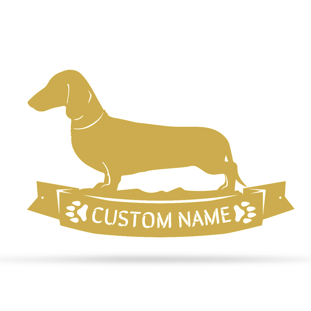 "The Dachshund Monogram 12.5""x20"" / Gold - RealSteel Center"