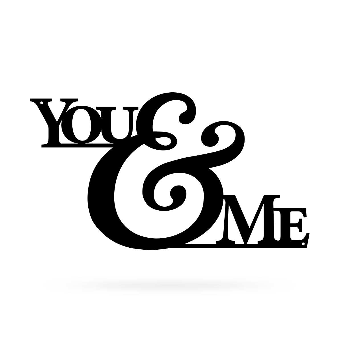 "You & Me Wall Art 9""x16"" / Black - RealSteel Center"