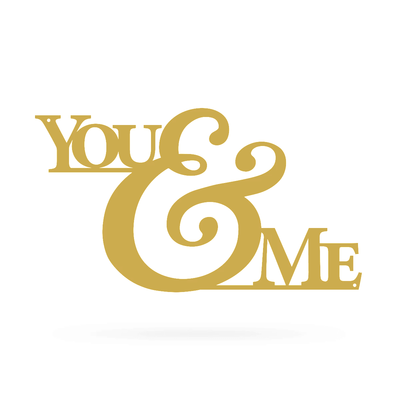 "You & Me Wall Art 9""x16"" / Gold - RealSteel Center"