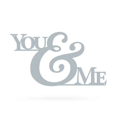 "You & Me Wall Art 9""x16"" / Textured Silver - RealSteel Center"