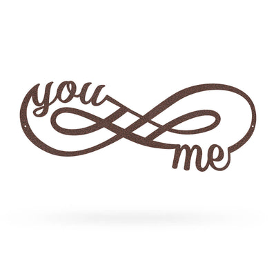 "You + Me for Infinity Wall Décor Sign 7""x18"" / Penny Vein - RealSteel Center"