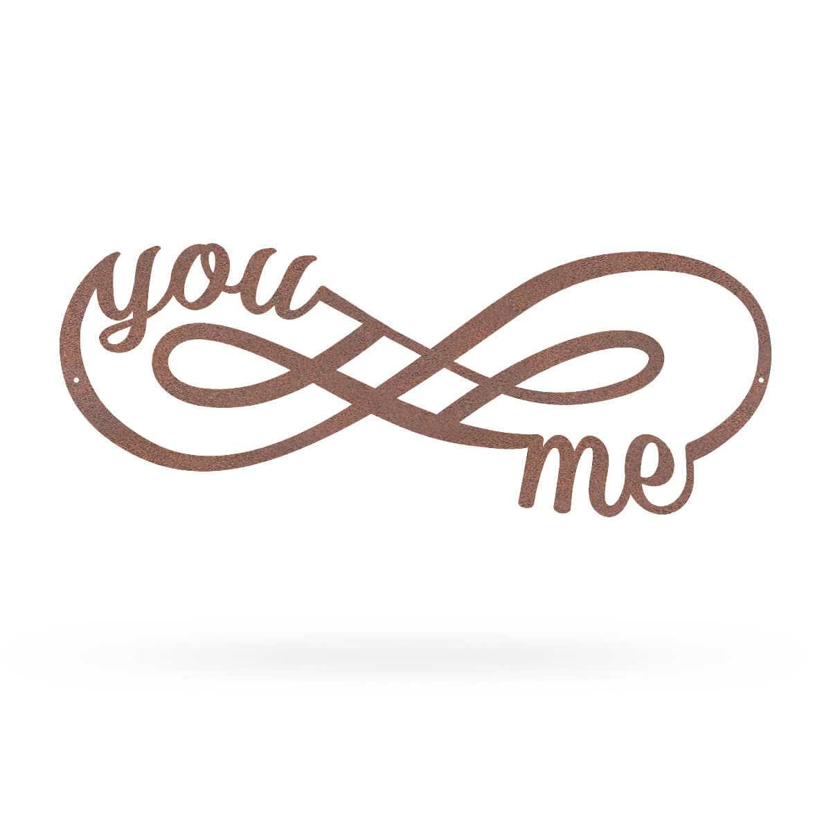 "You + Me for Infinity Wall Décor Sign 7""x18"" / Rust - RealSteel Center"
