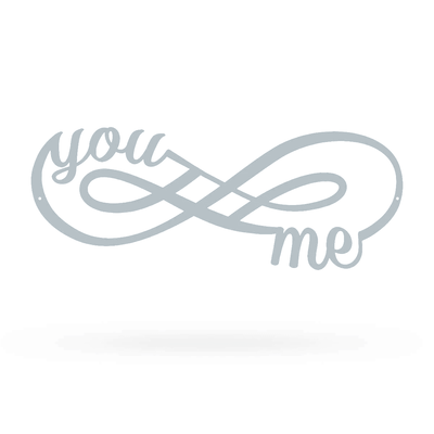 "You + Me for Infinity Wall Décor Sign 7""x18"" / Textured Silver - RealSteel Center"