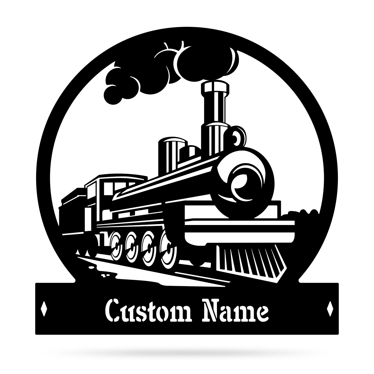 "Steam Train Monogram 20"" / Black - RealSteel Center"