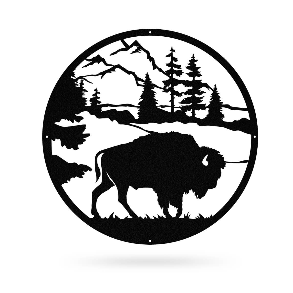 "American Bison 20""x20"" / Black - RealSteel Center"