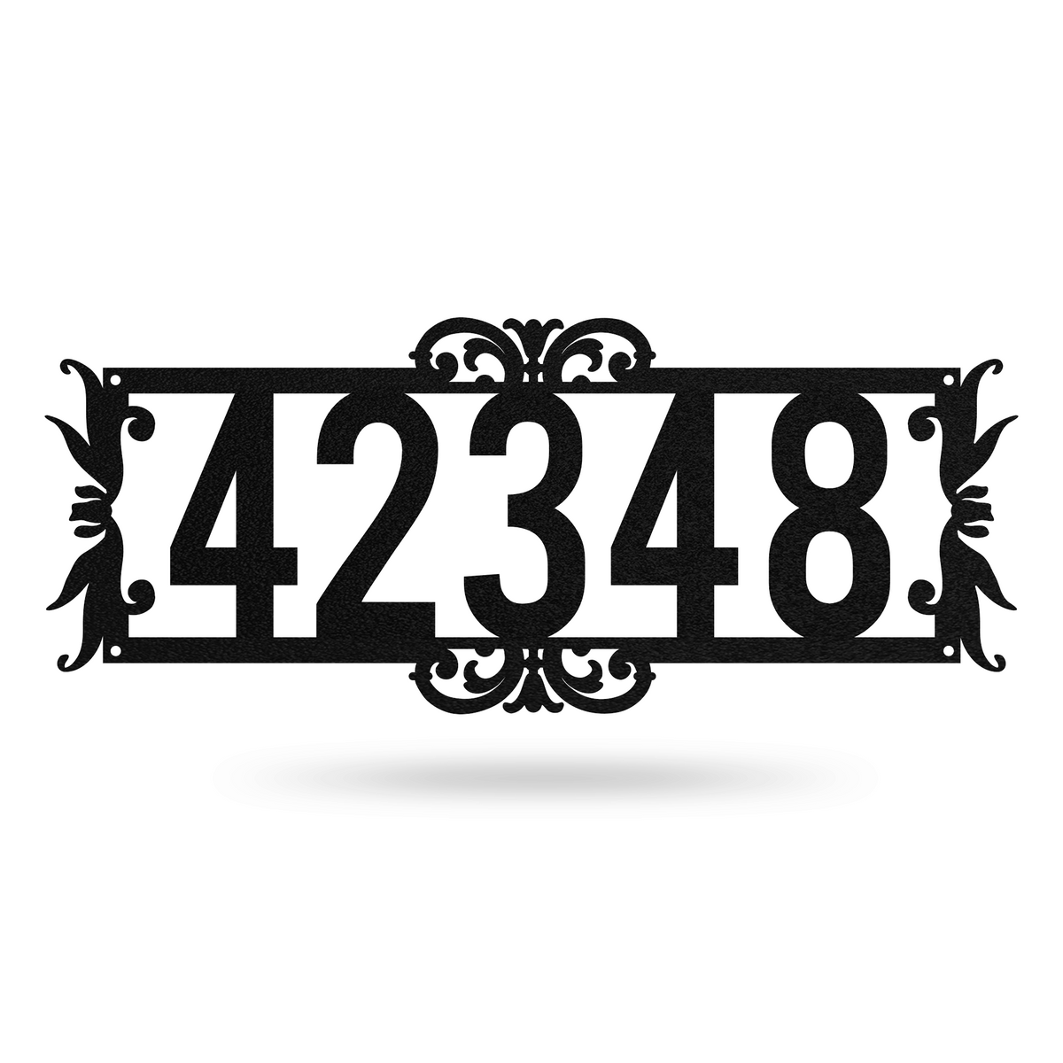 "Home Number Monogram 7.3""x18"" / Black - RealSteel Center"