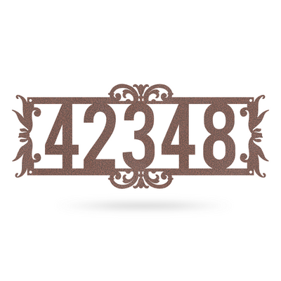 "Home Number Monogram 7.3""x18"" / Penny Vein - RealSteel Center"