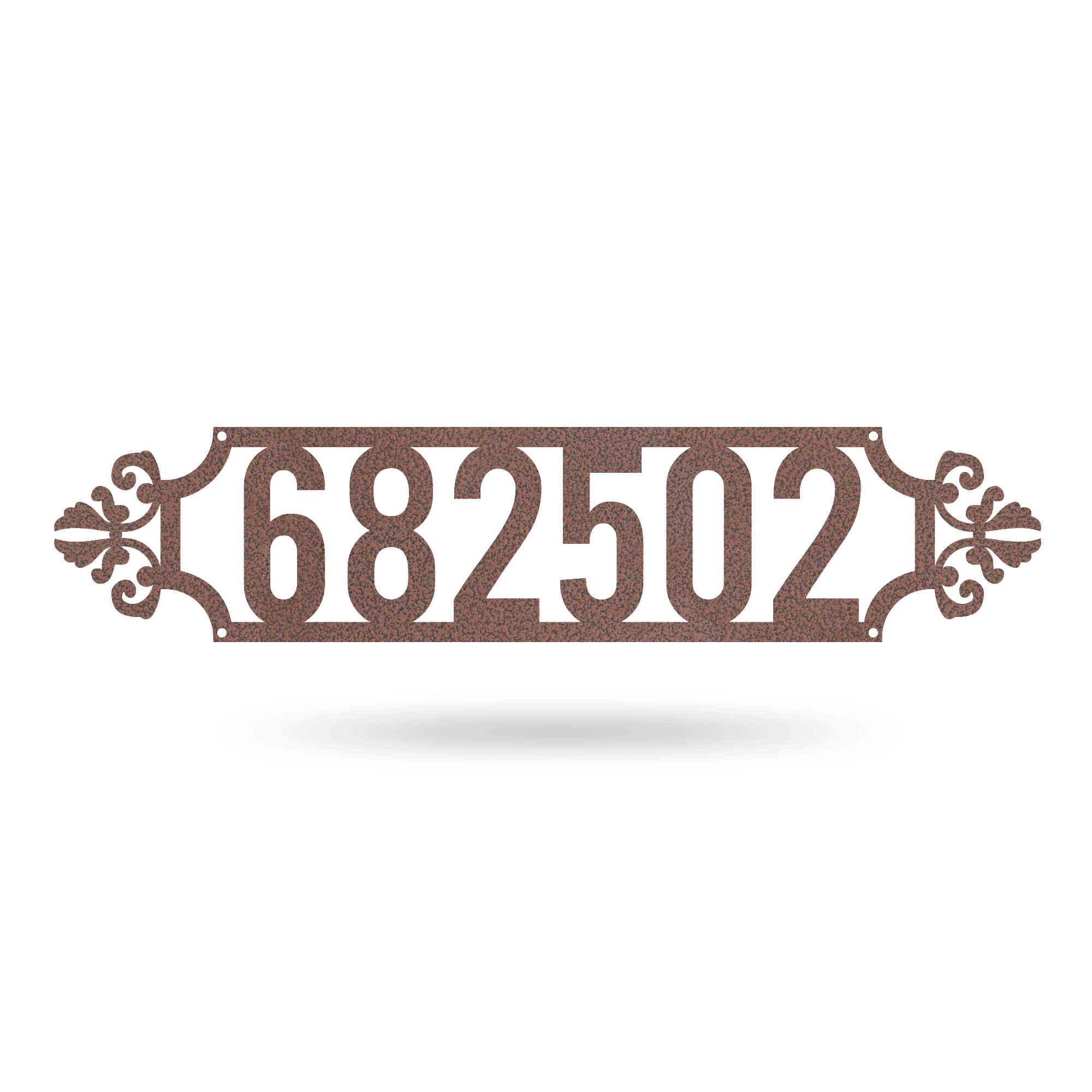 "Narrow Number Monogram 4""x18"" / Black - RealSteel Center"