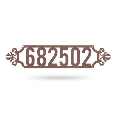 "Narrow Number Monogram 4""x18"" / Penny Vein - RealSteel Center"