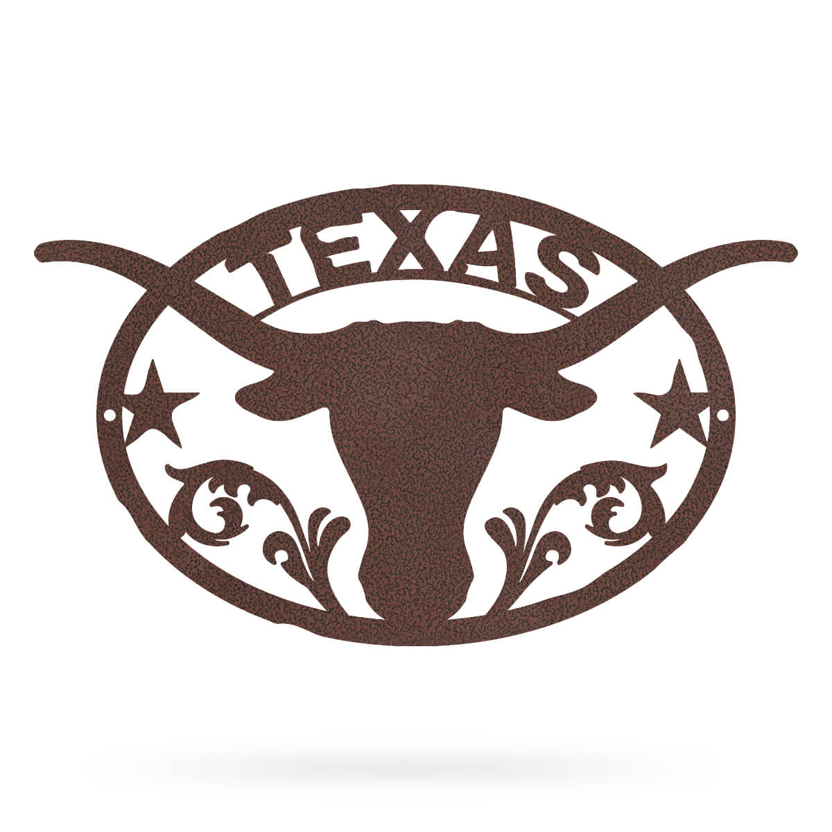 "Texas Longhorn Wall Dècor Small - 13""x18"" / Penny Vein - RealSteel Center"