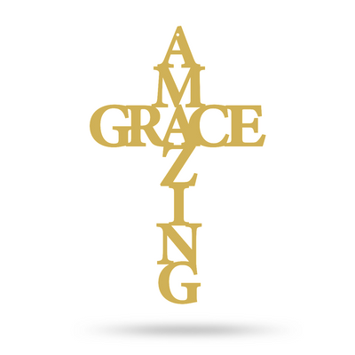 Amazing Grace Wall Art Cross Fab Religious Wall Art For Your Home Realsteel Center