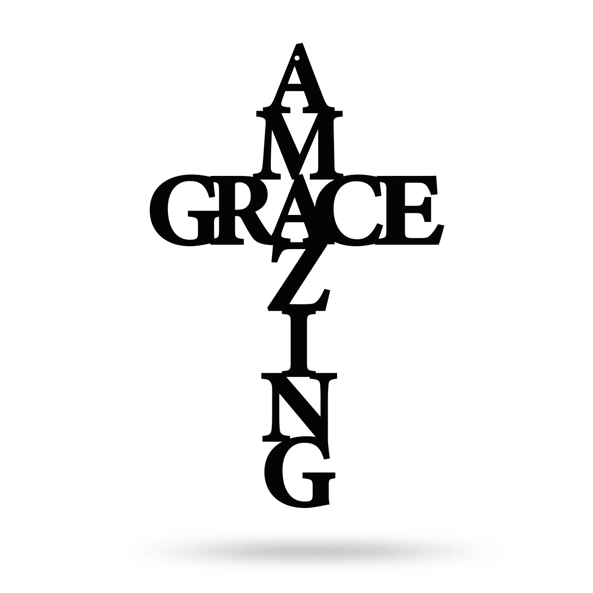 "Amazing Grace Wall Art Cross 10""x16"" / Black - RealSteel Center"