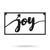 "Joy Metal Sign 8""x15"" / Black - RealSteel Center"