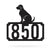 "Labrador Home Number Monogram 18""x18"" / Black - RealSteel Center"
