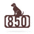 "Labrador Home Number Monogram 18""x18"" / Penny Vein - RealSteel Center"