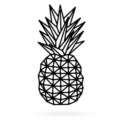 "Pineapple Wall Art 10""x18"" / Black - RealSteel Center"