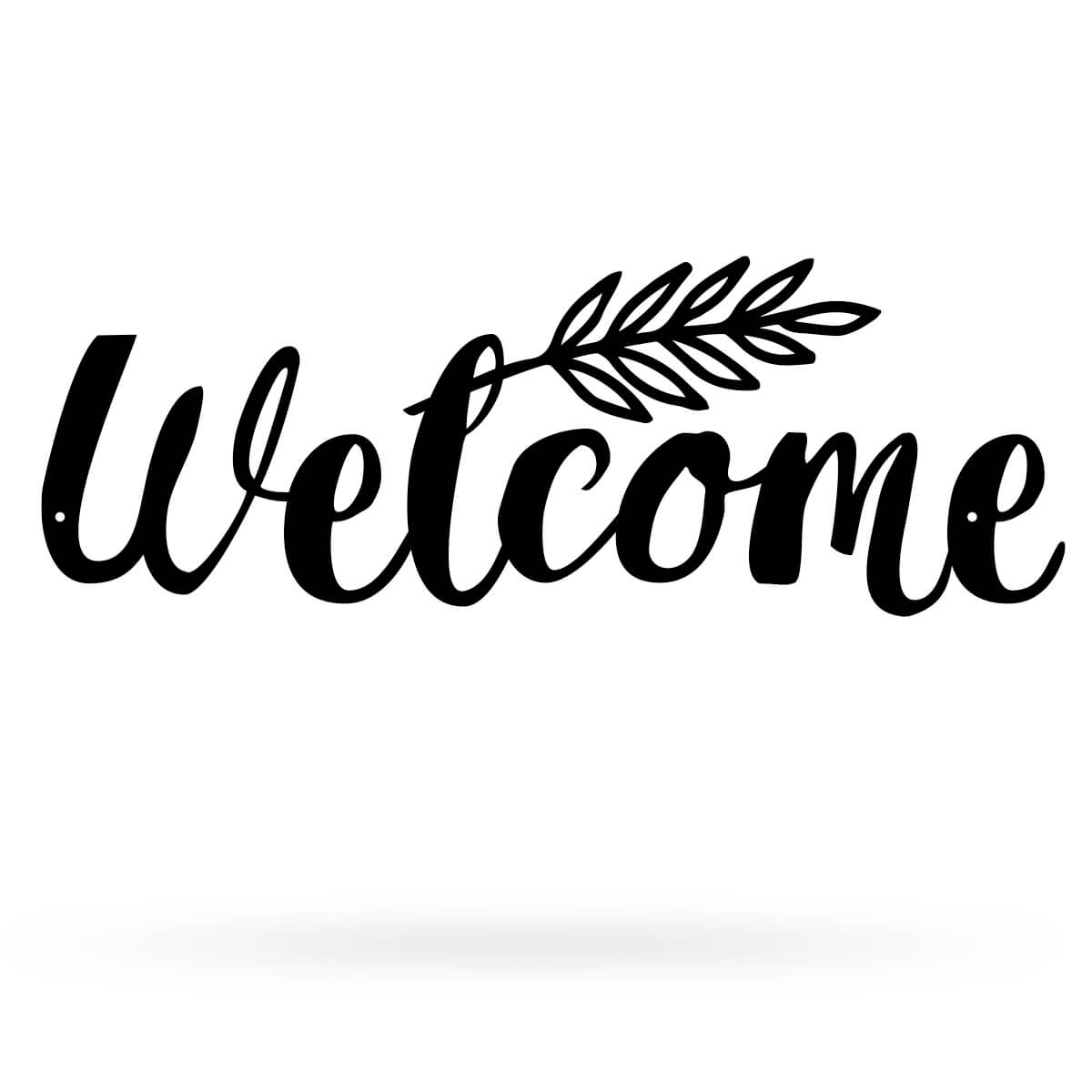 "Welcome Sign 6.3""x17"" / Black - RealSteel Center"