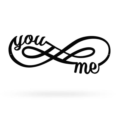 "You + Me for Infinity Wall Décor Sign 7""x18"" / Black - RealSteel Center"
