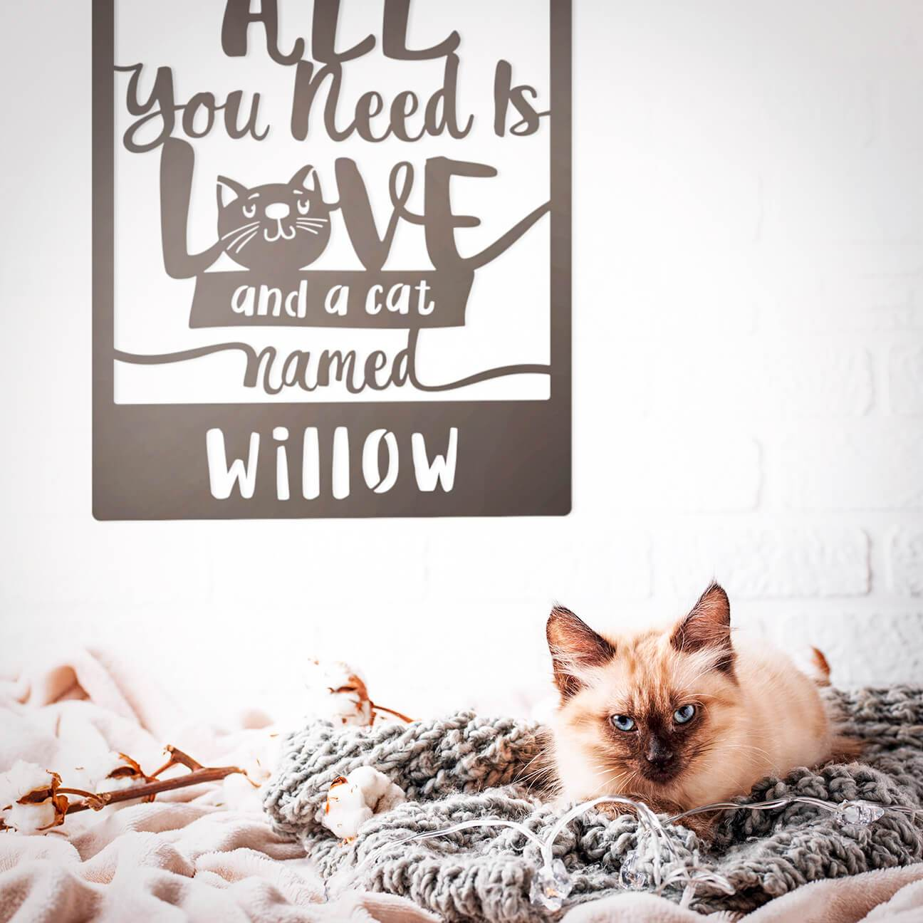Love And A Cat Monogram