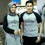 Dress Tunik Couple Crown Abu Hitam - Harga Sepasang - Mypoly.ID