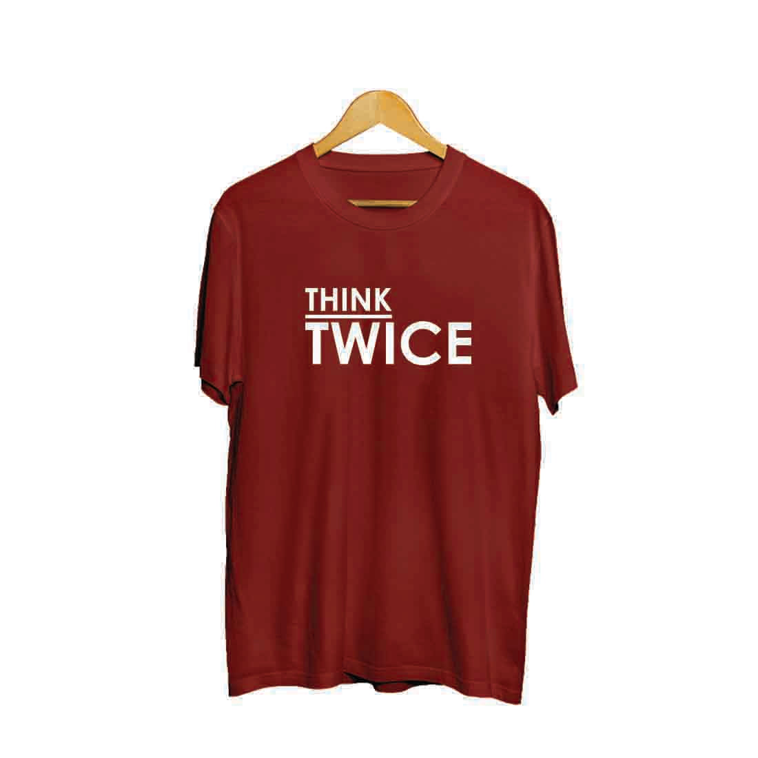 Kaos Tumblr Think Twice Terbaru - mypoly-indonesia.myshopify.com