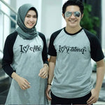 Dress Tunik Couple I Love Abu Hitam - Harga Sepasang - Mypoly.ID