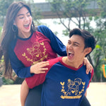 Kaos Couple Golden Couple Navy Maroon - Harga Sepasang - Mypoly.ID