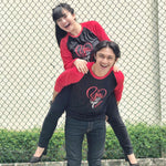 Kaos Couple You And Me Hitam merah - Harga Sepasang - Mypoly.ID