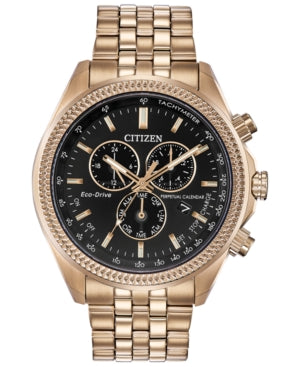 Citizen Eco-Drive Men's Chronograph Brycen Gold-Tone Stainless Steel Bracelet Watch 44mm