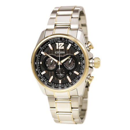 Citizen Men's Chronograph Eco-Drive Shadowhawk Two-Tone Stainless Steel Bracelet Watch 43mm CA4176-55E