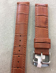Genuine Leather Crocodile Brown Watch Band