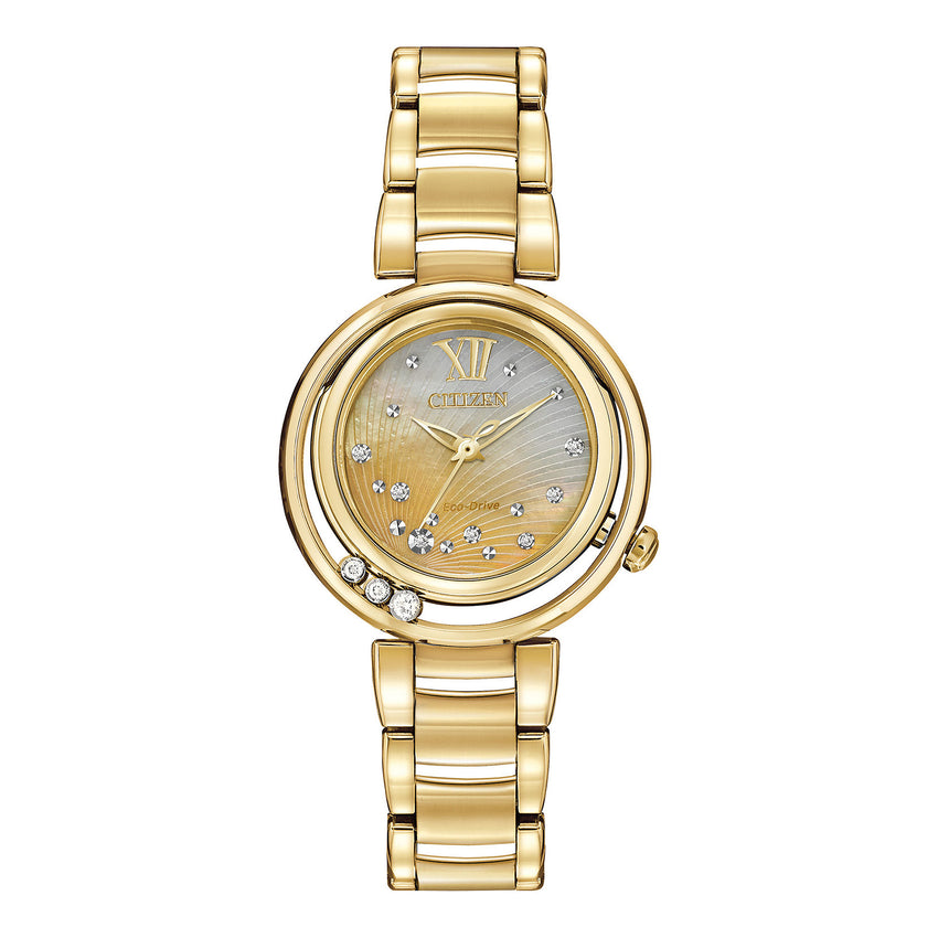 Citizen Women's EM0322-53Y Citizen L Sunrise Analog Display Japanese Quartz Gold Watch
