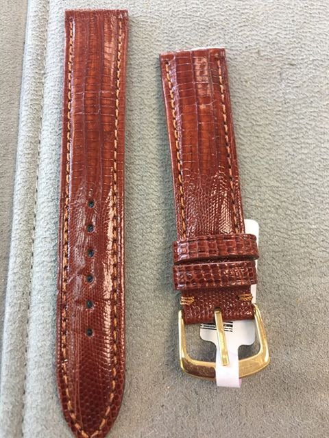 Teju Brown Lizard Watch Band