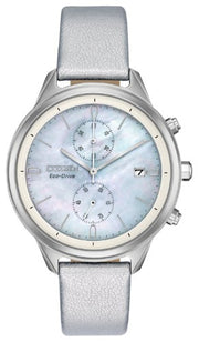 Womens Citizen(R) Eco-Drive Chandler Silver Watch-FB2000-03D , Silver