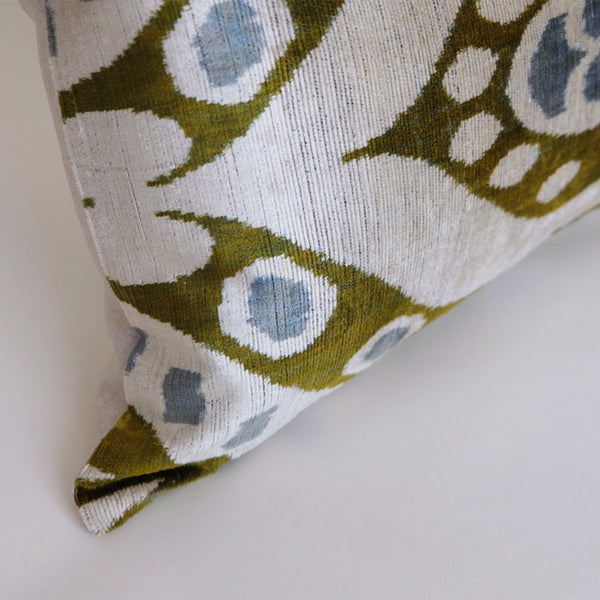 Aki Silk Ikat Lumbar Pillow