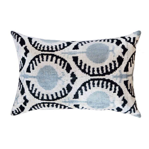 Aria Silk Ikat Lumbar Pillow