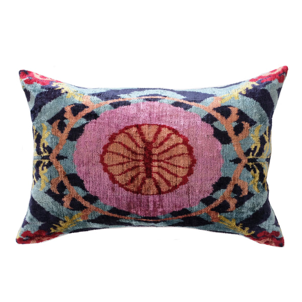 Bazar Silk Ikat Lumbar Pillow