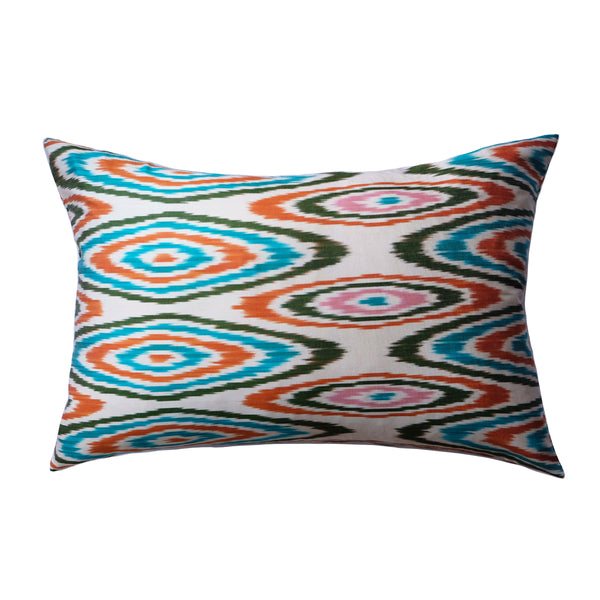 Belen Silk Ikat Lumbar Pillow