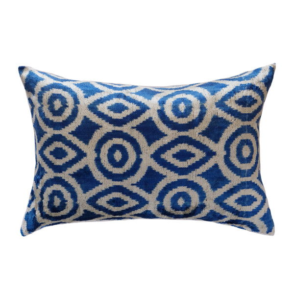 Caga Silk Ikat Lumbar Pillow