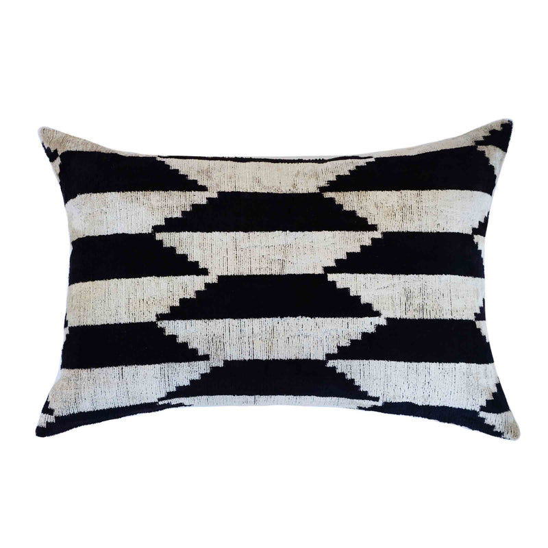 Cavi Silk Ikat Lumbar Pillow