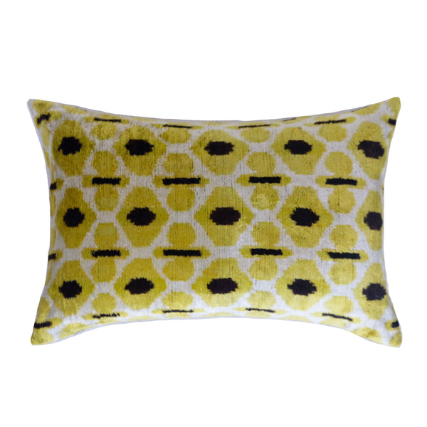 Cesme Silk Ikat Lumbar Pillow