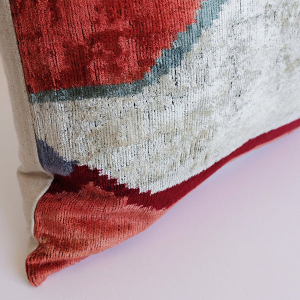 Cleo Silk Ikat Pillow